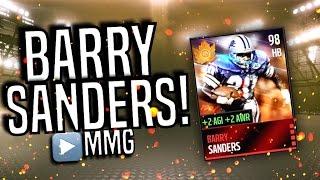 getlinkyoutube.com-98 BARRY SANDERS GAMEPLAY! Madden Mobile 16