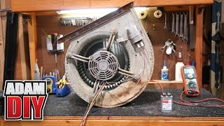 Furnace Blower Repair - loud motor and how to test a capacitor