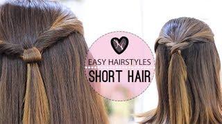 getlinkyoutube.com-EASY HAIRSTYLES FOR SHORT HAIR