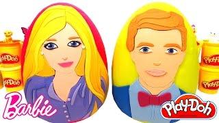 getlinkyoutube.com-Barbie ve Ken Sürpriz Yumurtaları - 2 Dev Sürpriz Yumurta Barbie Elbiseleri Aksesuarları