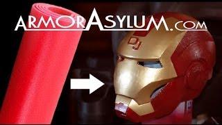 getlinkyoutube.com-ArmorAsylum - Iron Man foam helmet - raw real time building.