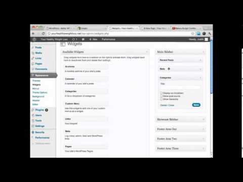 WordPress Sidebar - WordPress Tutorials