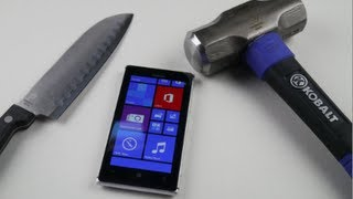getlinkyoutube.com-Nokia Lumia 925 Hammer & Knife Test