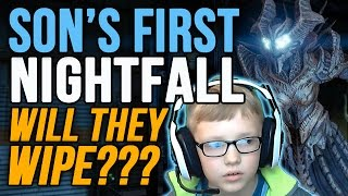 getlinkyoutube.com-Destiny Omnigul Nightfall: Son's First Nightfall Will they Wipe? Will of Crota Nightfall