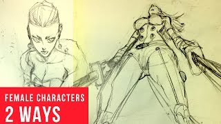 How To Draw Female Characters in Perspective: 2 Ways