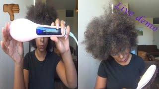 getlinkyoutube.com-Brush Straightener Review (Natural Hair)