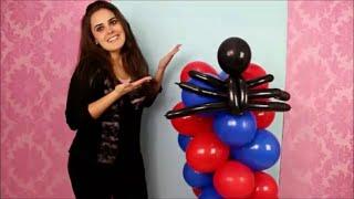 getlinkyoutube.com-Coluna de Balões Simples em Espiral de 2 Cores