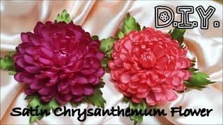 getlinkyoutube.com-D.I.Y. Satin Chrysanthemum Flower | MyInDulzens