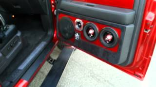 "getlinkyoutube.com-Candy RED 2011 Harley Davidson F150 on 32"" Asantis NEW SYSTEM!"