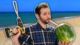 getlinkyoutube.com-Como fazer suco de melancia com furadeira