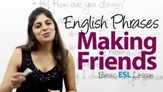 getlinkyoutube.com-Useful phrases for making friends -- Basic English Vocabulary / Phrases Lesson ( ESL)