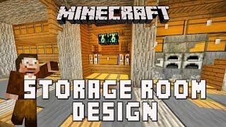 Minecraft: Survival Base Storage Room Design  (Scarland Base Build Ep.7)