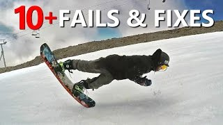 10+ Snowboard Trick Fails & Fixes