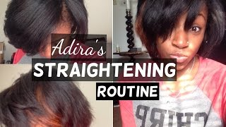 getlinkyoutube.com-Adira' Straightening Routine | Straightening 3c/4a Natural Hair
