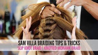 getlinkyoutube.com-Slip Tie Braid | Knotted Mohawk Braid