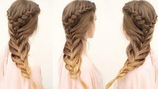 getlinkyoutube.com-Mermaid Braid Hair Tutorial | Cute Hairstyles | Braidsandstyles12