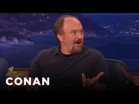 Louis CK Punches Dog In The Face To Save Her Life - Conan On TBS