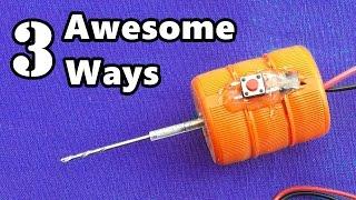 getlinkyoutube.com-3 Awesome Ways to Make a Drill Machine at Home