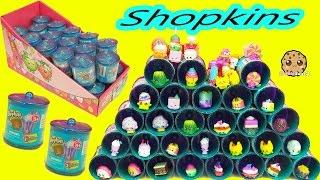 getlinkyoutube.com-Shopkins Exclusive Season 1, 2, 3 Colors Food Fair Candy Jar Surprise Blind Bags  Full Box