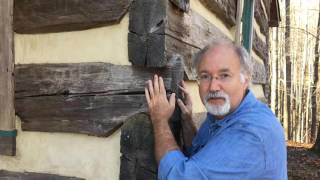 """Handmade House TV # 6   """"Hewn Logs and Chinking"""""""