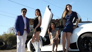 getlinkyoutube.com-Hot girls, short skirts and a Lamborghini