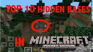 getlinkyoutube.com-Top 10 Hidden Bases in Minecraft PE! (No MODS!)