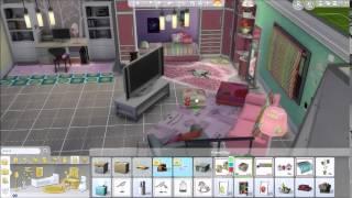 getlinkyoutube.com-(Sims 4) Speed build: Rich Girly Girl Bedroom