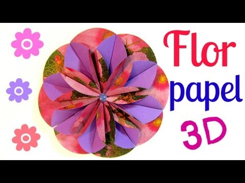 Tutorial. Flores de papel tridimensionales. Flower 3D.
