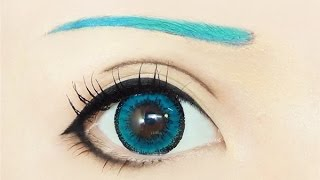 getlinkyoutube.com-Tutorial : Anime Eye Makeup 191 • Hatsune Miku
