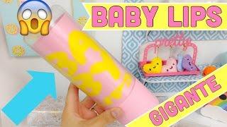 getlinkyoutube.com-BABY LIPS GIGANTE,haz un balsamo labial gigante para decorar o guardar lo que quieras