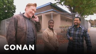 Ice-Cube-Kevin-Hart-And-Conan-Share-A-Lyft-Car width=