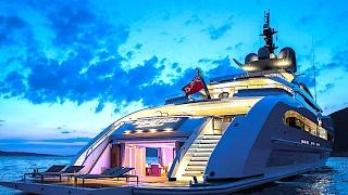 getlinkyoutube.com-Galactica Super Nova Superyacht INTERIOR Bespoke 2017 New MegaYacht 2017 CARJAM TV HD