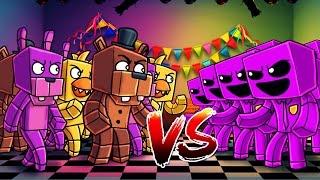 Minecraft | 100 FNAF ANIMATRONICS VS 100 PURPLE GUYS! (FNAF Massive Mob Battles)