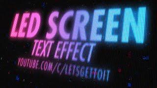 getlinkyoutube.com-Screen LED Text Effect - Photoshop Tutorial
