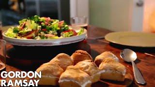 getlinkyoutube.com-Ploughman's Lunch with Beer Soaked Bread | Gordon Ramsay