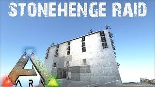 ARK Survival Evolved - Stonehenge Base Raid! E29