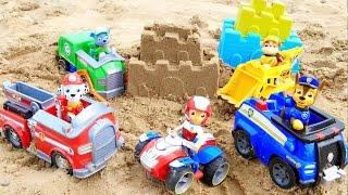 getlinkyoutube.com-Щенячий Патруль. Строим крепость на пляже / PAW PATROL Toys  playing  on the beach