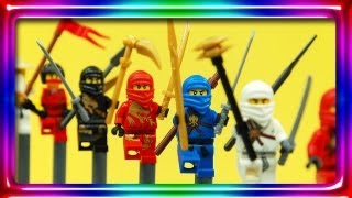 getlinkyoutube.com-LEGO NINJAGO Sensei Wu, Cole DX, Nya, and NUCKAL 2170, 2172, 2173