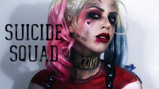 getlinkyoutube.com-Harley Quinn (Suicide Squad) Makeup & Painted Costume | Claire Dim