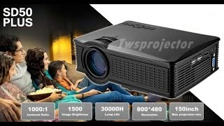 2017 มินิโปรเจคเตอร์LED SD50 Plus (All in one) 1500 Lumensเพียง3,500 บาท(ledprojector) 1500 ลูเมน