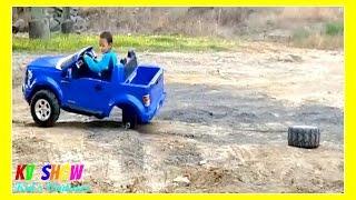 getlinkyoutube.com-Kruz Joyriding His Power Wheel Ford F-150! The Wheel Fell Off!