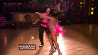 getlinkyoutube.com-Aly Raisman & Mark Ballas - Cha Cha-Week-1