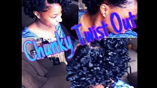getlinkyoutube.com-Chunky Twist Out on Short Natural Hair {RELOADED}