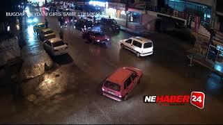 Erzincan'da Trafik kazaları MOBESE kameralarında