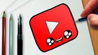 getlinkyoutube.com-Como desenhar a logo do YouTube kawaii
