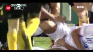 getlinkyoutube.com-Soccer Player Grabs Opponents Junk