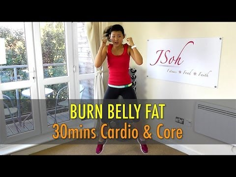 30 Mins Cardio & Core Interval (Burn Belly Fat!) - Beginner & Advance