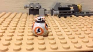getlinkyoutube.com-Lego Star Wars The Force Awakins Custom BB8 stopmotion test