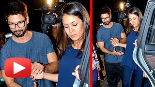 getlinkyoutube.com-Shahid Kapoor Takes His Pregnant Wife Mira On A Dinner