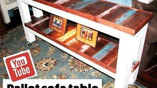 getlinkyoutube.com-Pallet Sofa Table